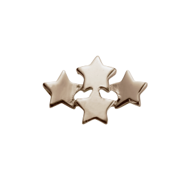 Stow 9ct Rose Wishing Stars Charm image