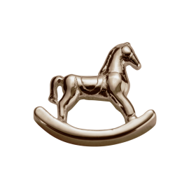 Stow 9ct Rose Rocking Horse Charm image