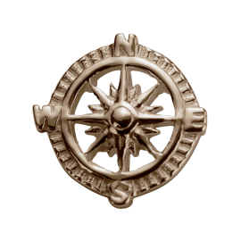 Stow 9ct Rose Compass Charm image