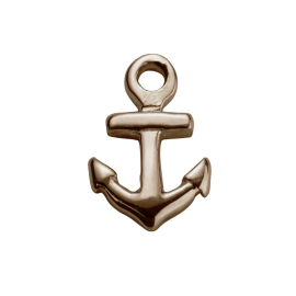 Stow 9ct Rose Anchor Charm image