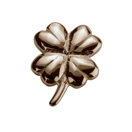 Stow 9ct Rose Lucky Clover Charm image