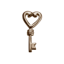 Stow 9ct Rose Key Charm image