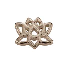 Stow 9ct Rose Lotus Charm image