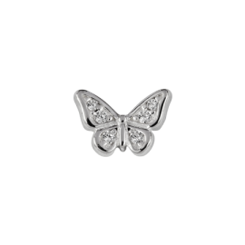 Stow Stg CZ Butterfly Charm image