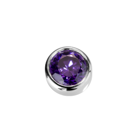 Stow Amethyst CZ Virtue Charm image