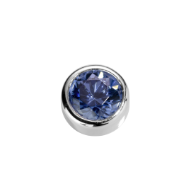 Stow Sapphire CZ Virtue Charm image