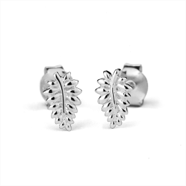 Stow Sterling Silver NZ Fern Earrings image