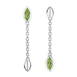 Stow Sterling Silver Peridot Vitality Drop Earrings image