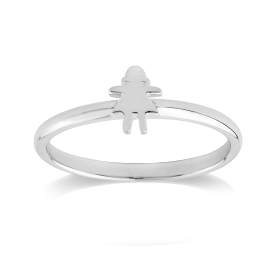 Stow Sterling Silver Stowaway Girl Ring image