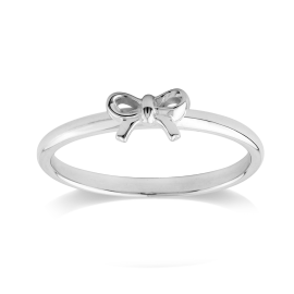 Stow Sterling Silver Bow Ring image