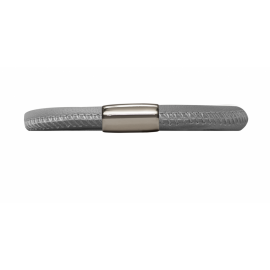 Single Grey Leather Bracelet image