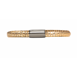 Single Gold Leather Bracelet image