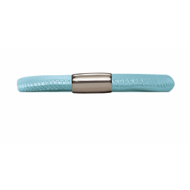 Single Light Blue Leather Bracelet image