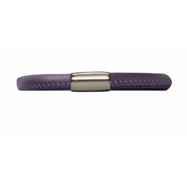 Single Purple Leather Bracelet image