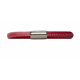 Single Red Leather Bracelet image