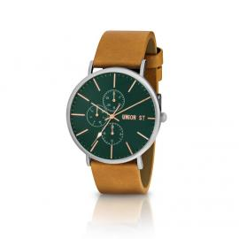 Union St. Callum Silver and Tan Watch image