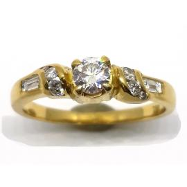 18ct Solitaire Diamond Ring TDW 0.40CT image