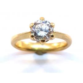 18ct Solitaire Diamond Ring TDW 1CT image