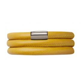 Triple Yellow Leather Bracelet image